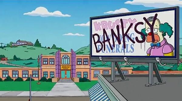 Banksy Simpsonų klaunas