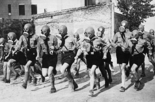 Members Of The Hitler Youth On Training