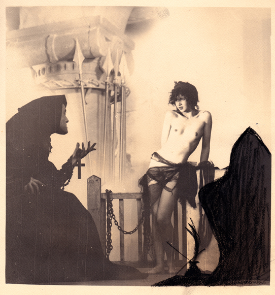 William_Mortensen_-_Chained Nude with Monk