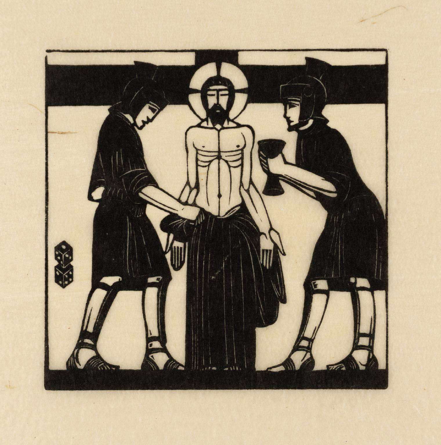 Jesus is Stripped 1917 by Eric Gill 1882-1940