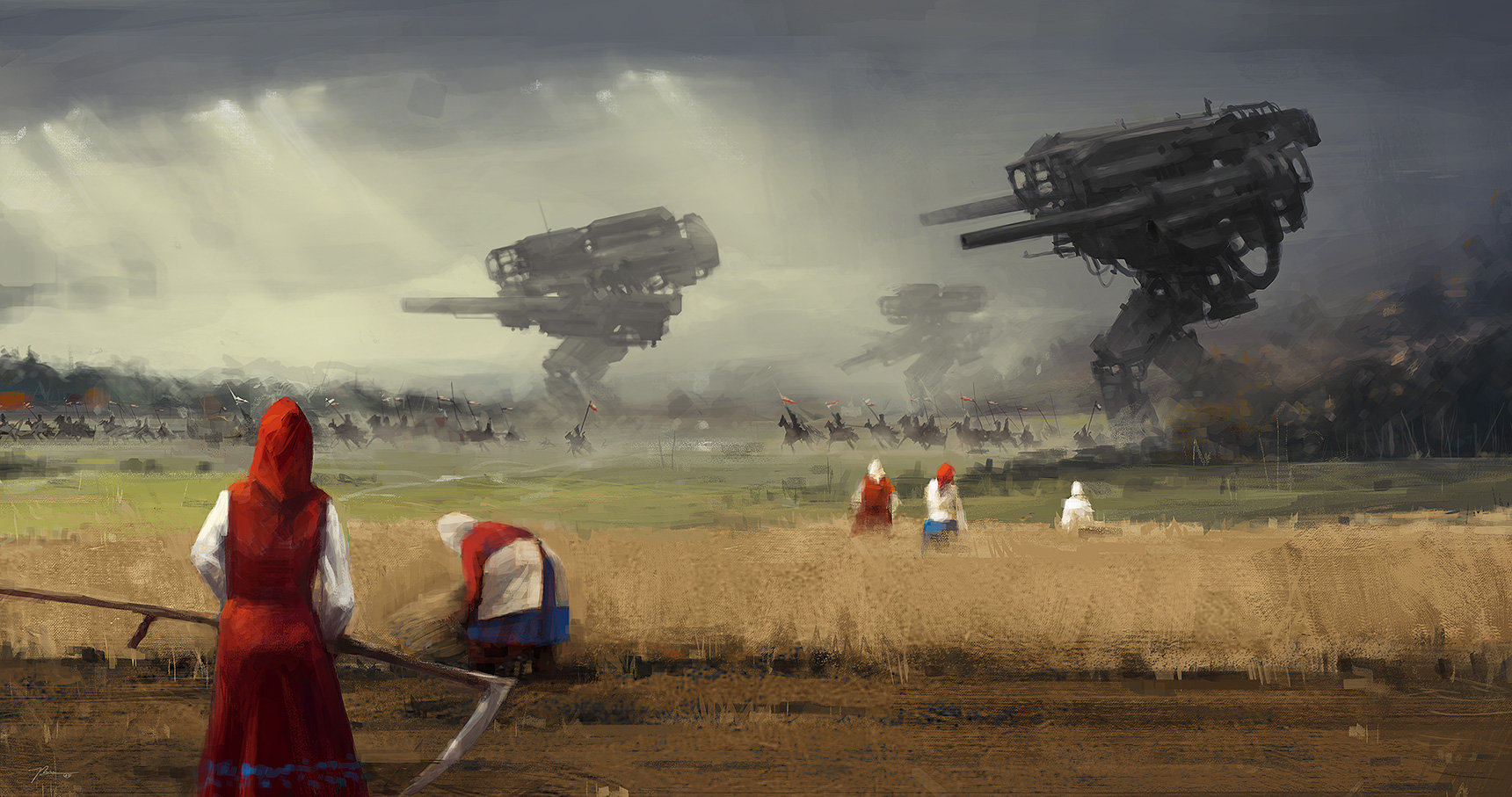 Jakub_Rozalski_-_1920 before the storm