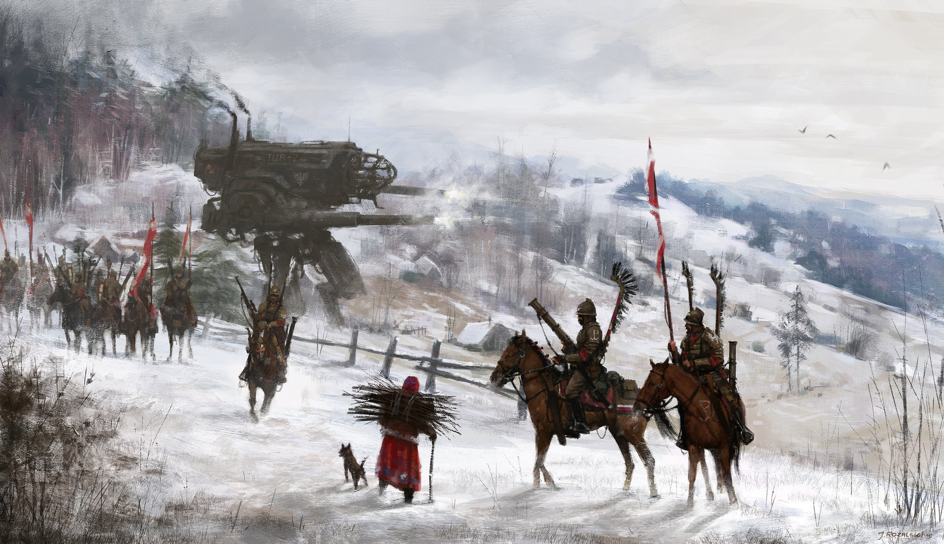 Jakub_Rozalski_-_1920 black wings