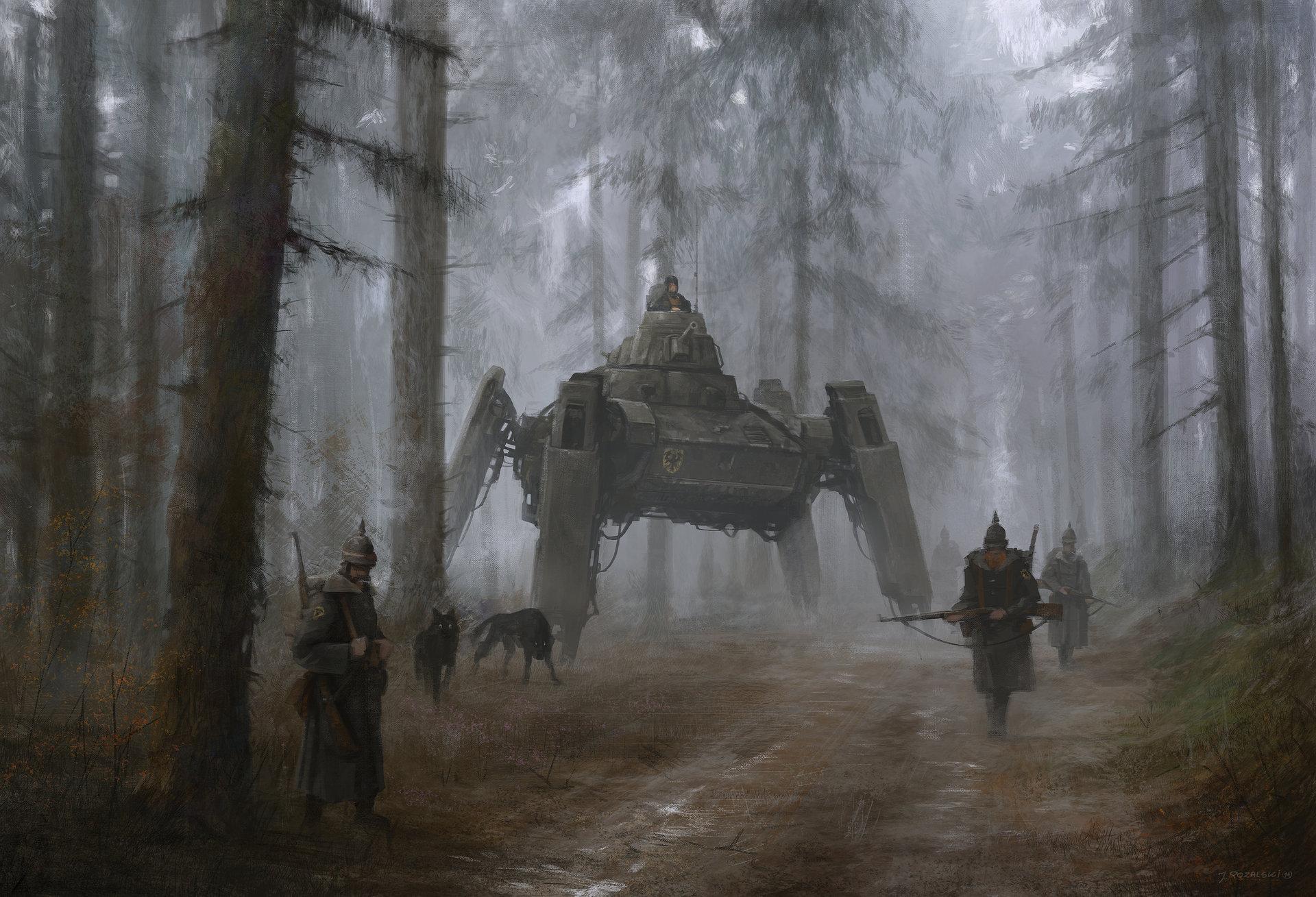 Jakub_Rozalski_-_1920 german wolfs