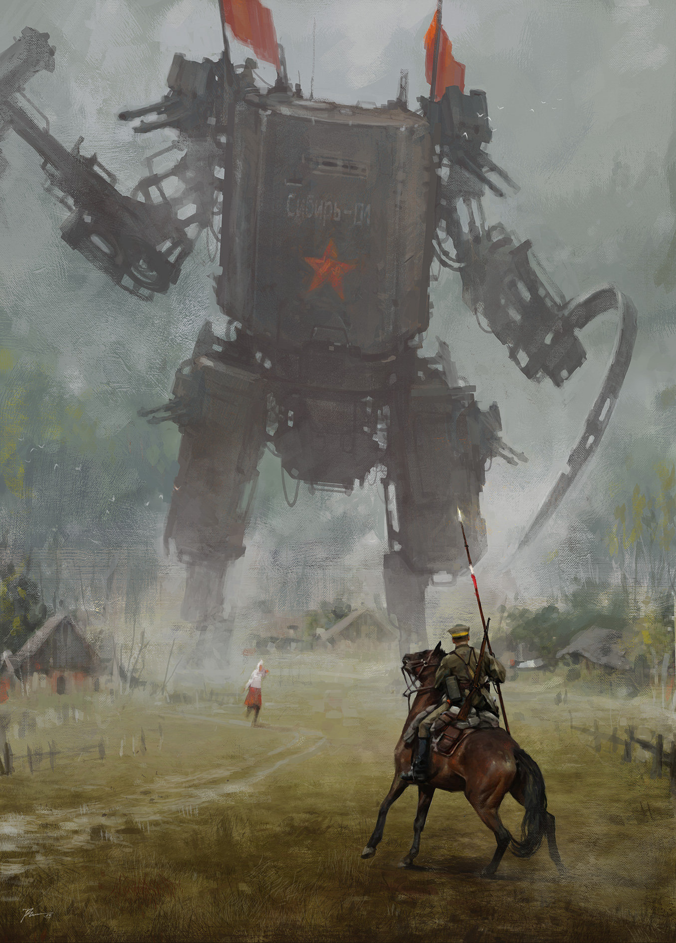 Jakub_Rozalski_-_1920 hammer and sickle