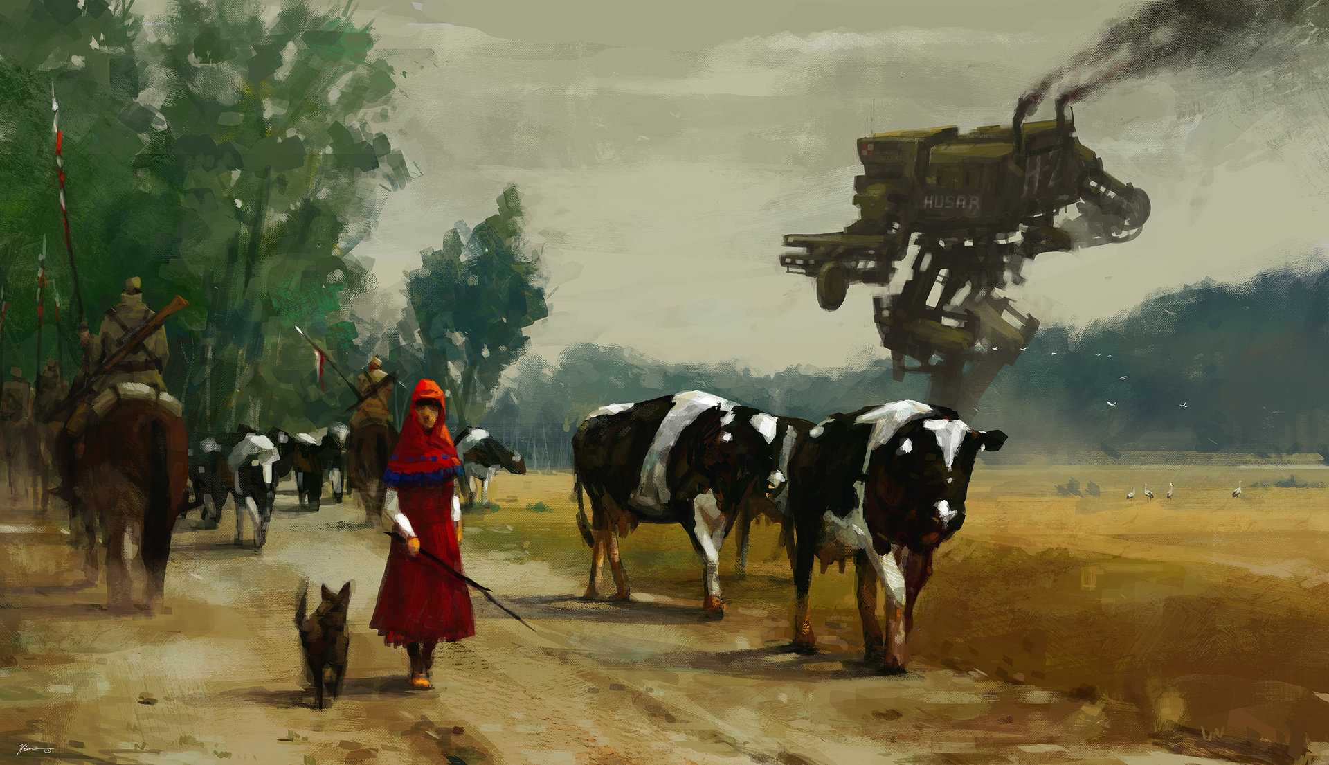 Jakub_Rozalski_-_1920 on the road