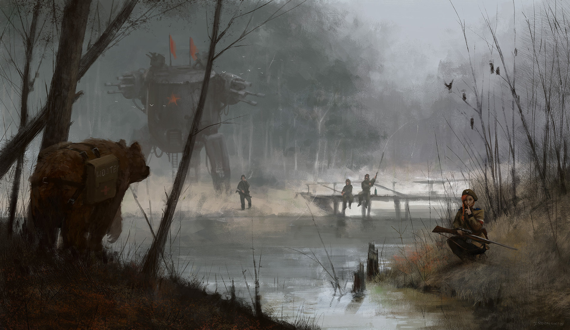 Jakub_Rozalski_-_1920 revolution can wait
