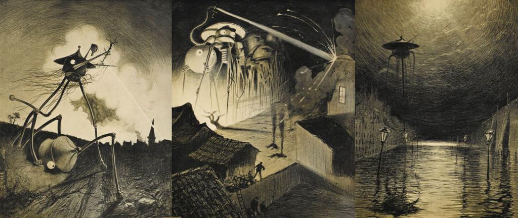 """Henrique Alvim Corrêa iliustracijos """"Pasaulių karui""""."""