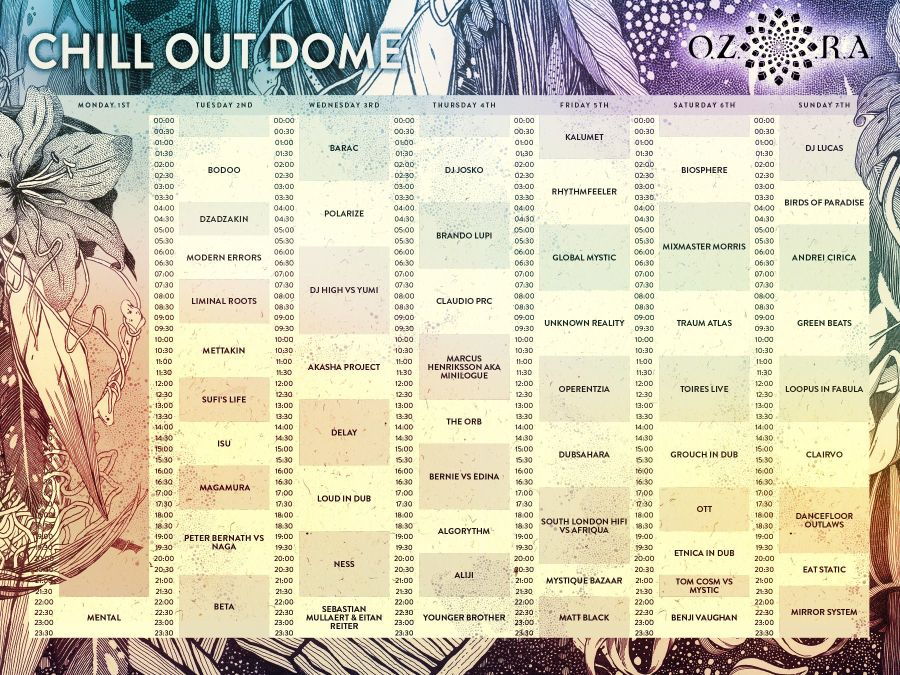 Ozora_2016_chill_out_dome_timetable