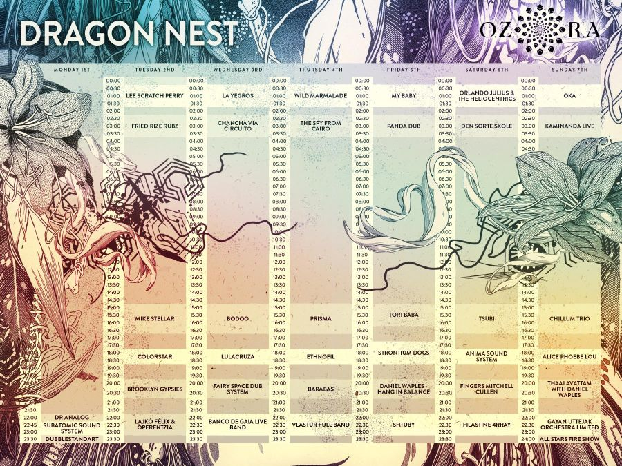 Ozora_2016_dragon_nest_timetable