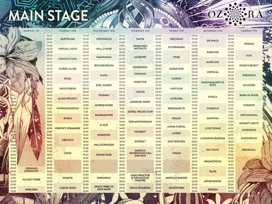 Ozora_2016_main_stage_timetable